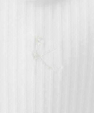 組曲 KIDS 【110-140cm】フルールカットピケ ブラウス アイボリー系