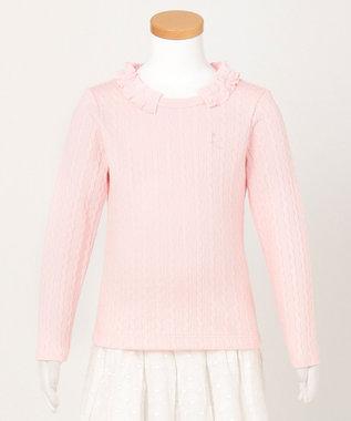 組曲 KIDS 【110-140cm】ケーブルジャガード カットソー ピンク系