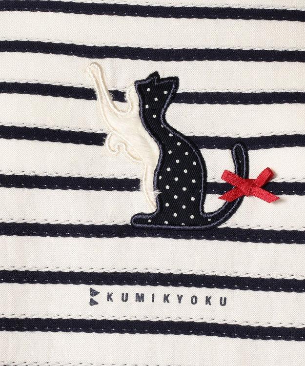 組曲 KIDS 【SCHOOL】フリルタックボーダー カットソー