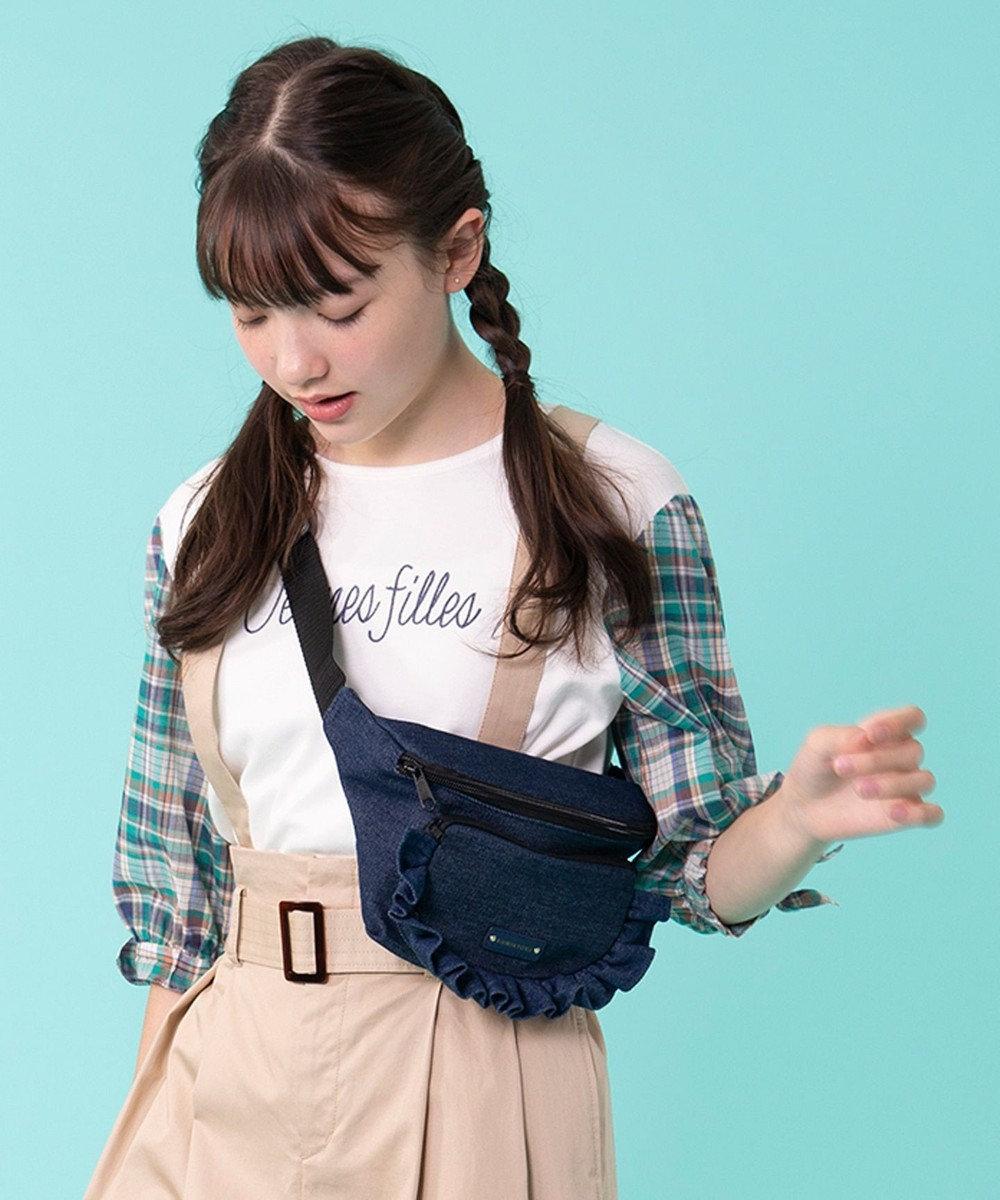 組曲 KIDS 【150~170cm】チェックコンビ カットソー アイボリー系