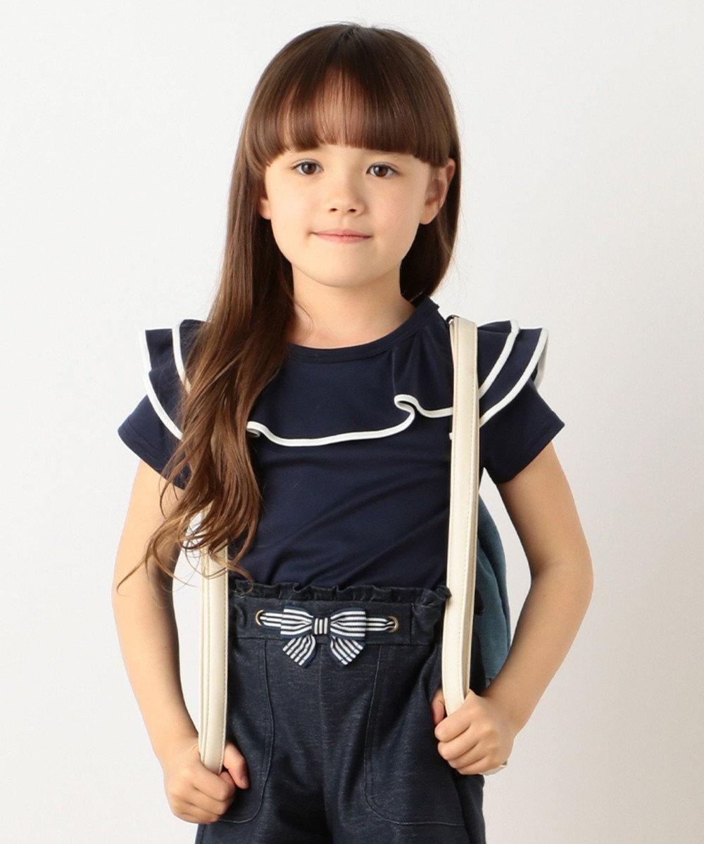 組曲 KIDS 【SCHOOL】フレアフリル Tシャツ ネイビー系