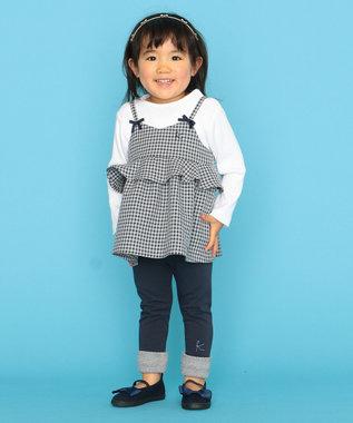 組曲 KIDS 【80-100cm】ウーリッシュチェックレイヤード グレー系3