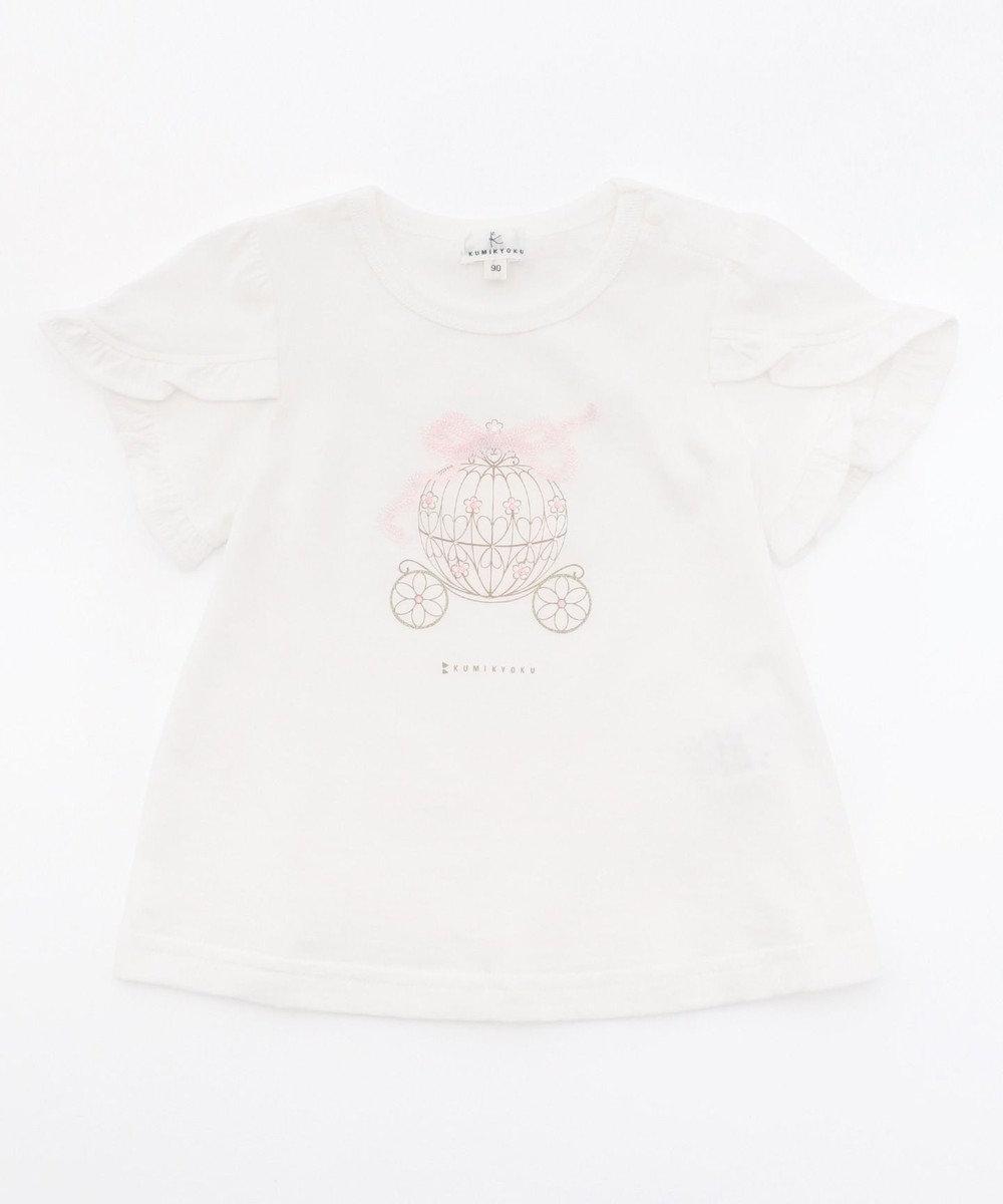 組曲 KIDS 【80-100cm】フェアリーキャリッジプリント カットソー ホワイト系