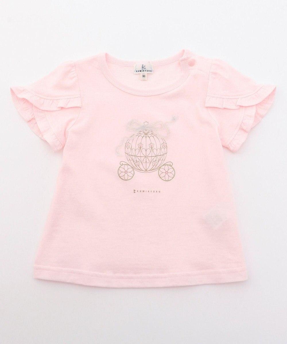 組曲 KIDS 【80-100cm】フェアリーキャリッジプリント カットソー ピンク系