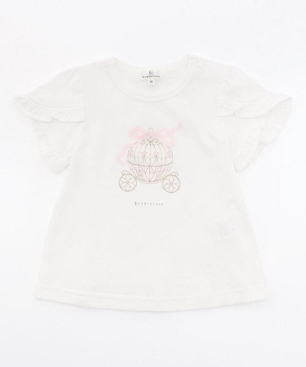 組曲 KIDS 【80-100cm】フェアリーキャリッジプリント カットソー