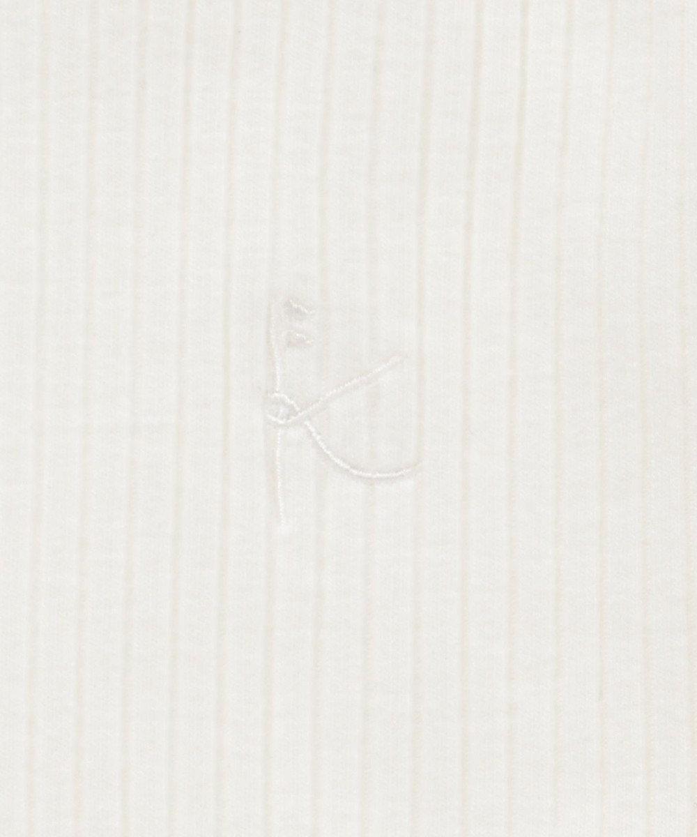 組曲 KIDS 【80~100cm】モノトーンフラワー ツインセット ネイビー系3
