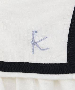 組曲 KIDS 【80~100cm】セーラーチュニック カットソー アイボリー系