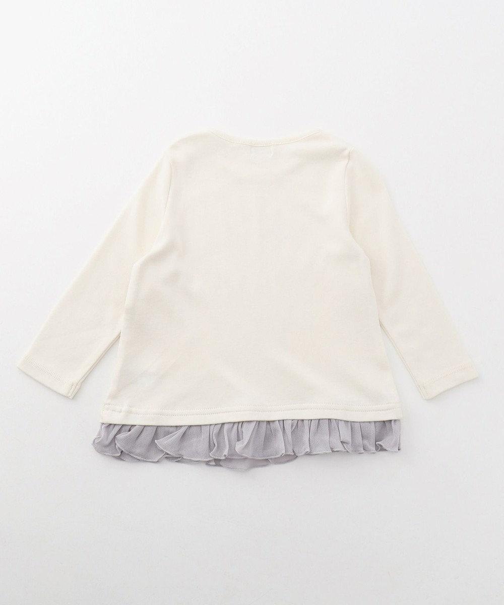 組曲 KIDS 【80~90cm】スワン Tシャツ アイボリー系