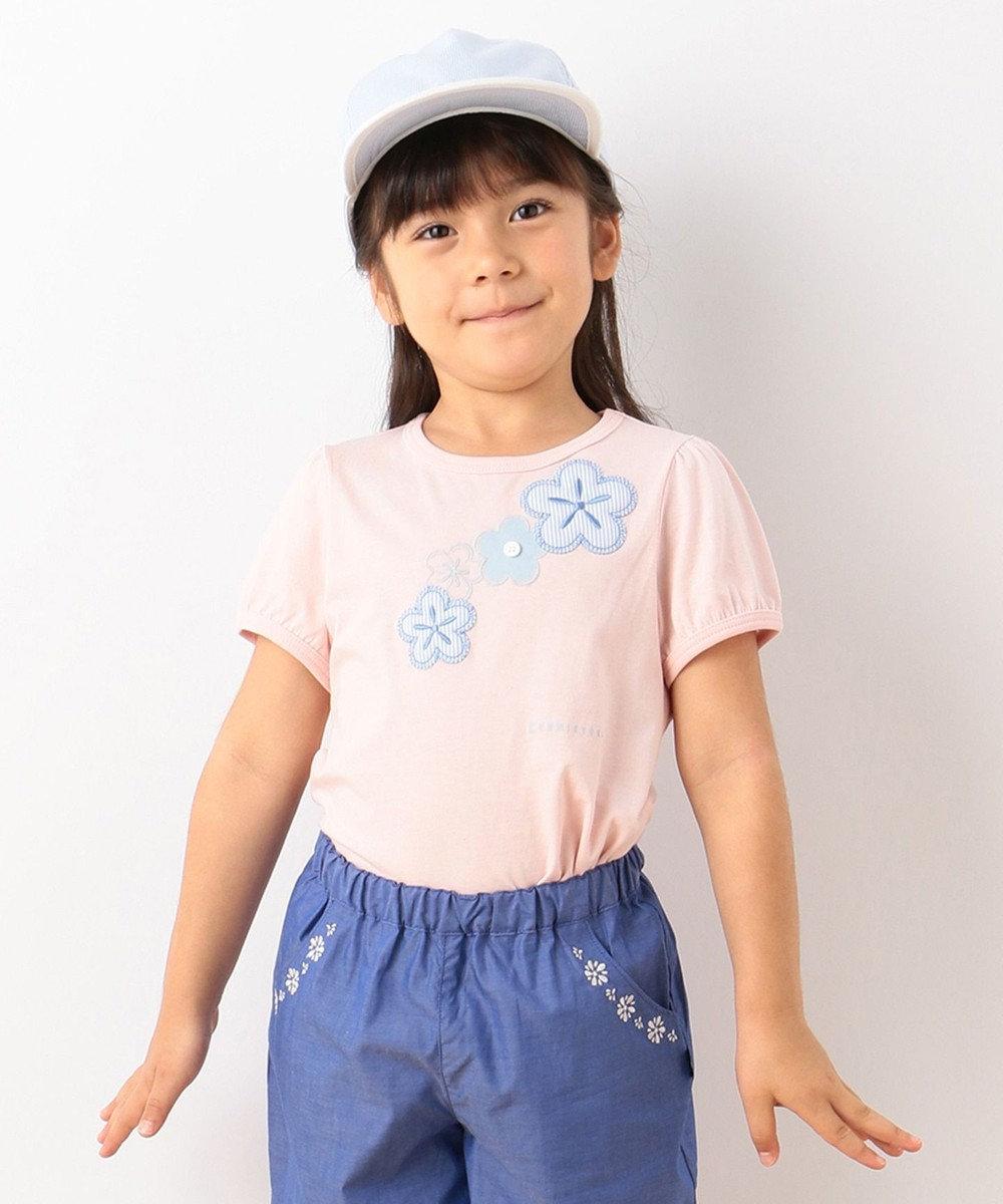 組曲 KIDS 【TODDLER】ストライプフルール カットソー ピンク系