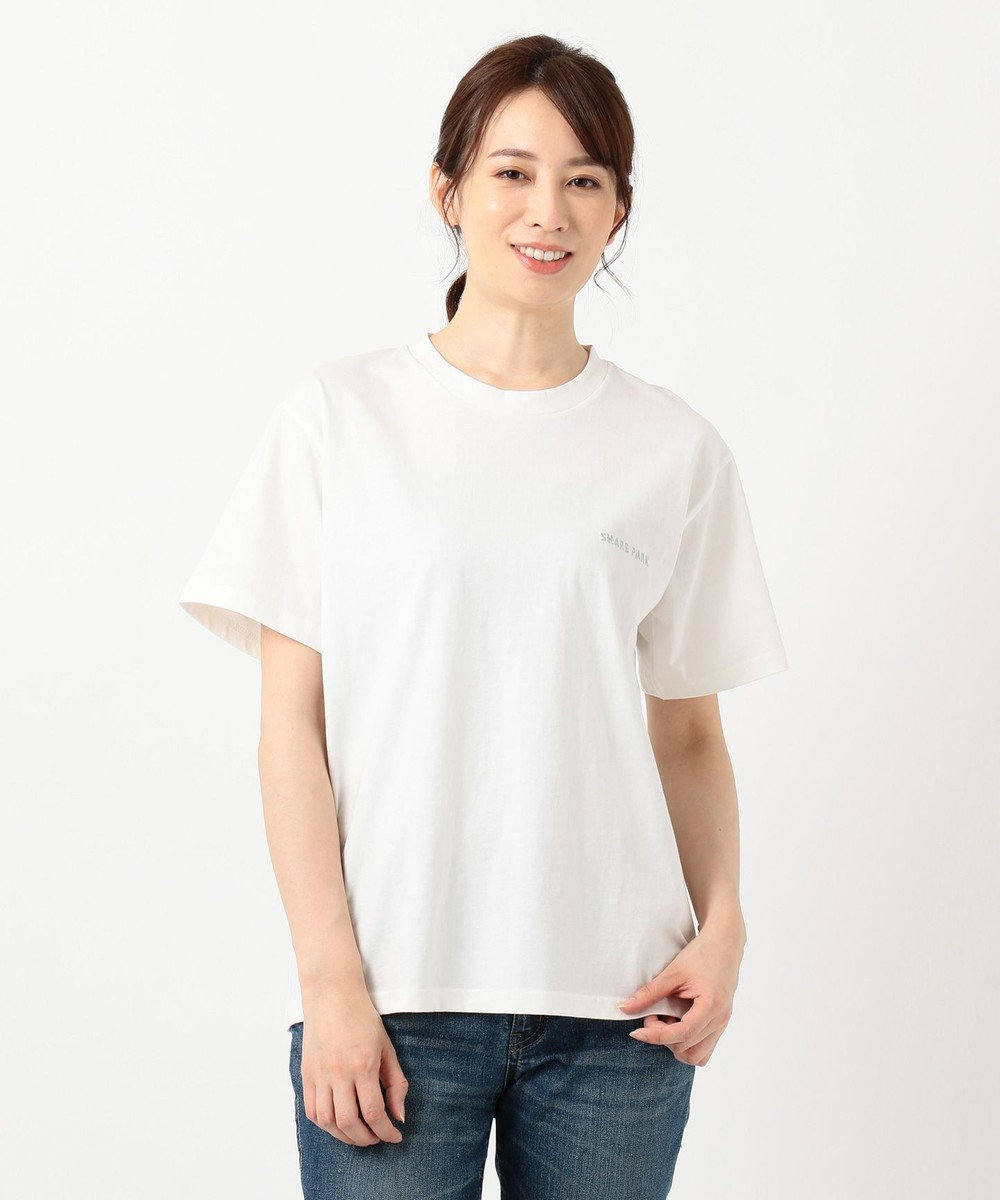 SHARE PARK LADIES 【WEB限定】SHARE PARK ロゴTシャツ ホワイト系1