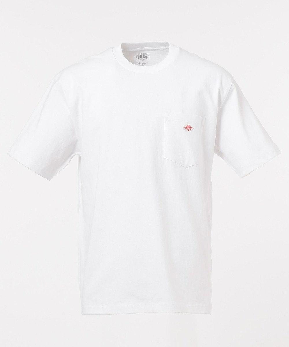 SHARE PARK MENS 〈DANTON〉 ポケットロゴS/STEE ホワイト系