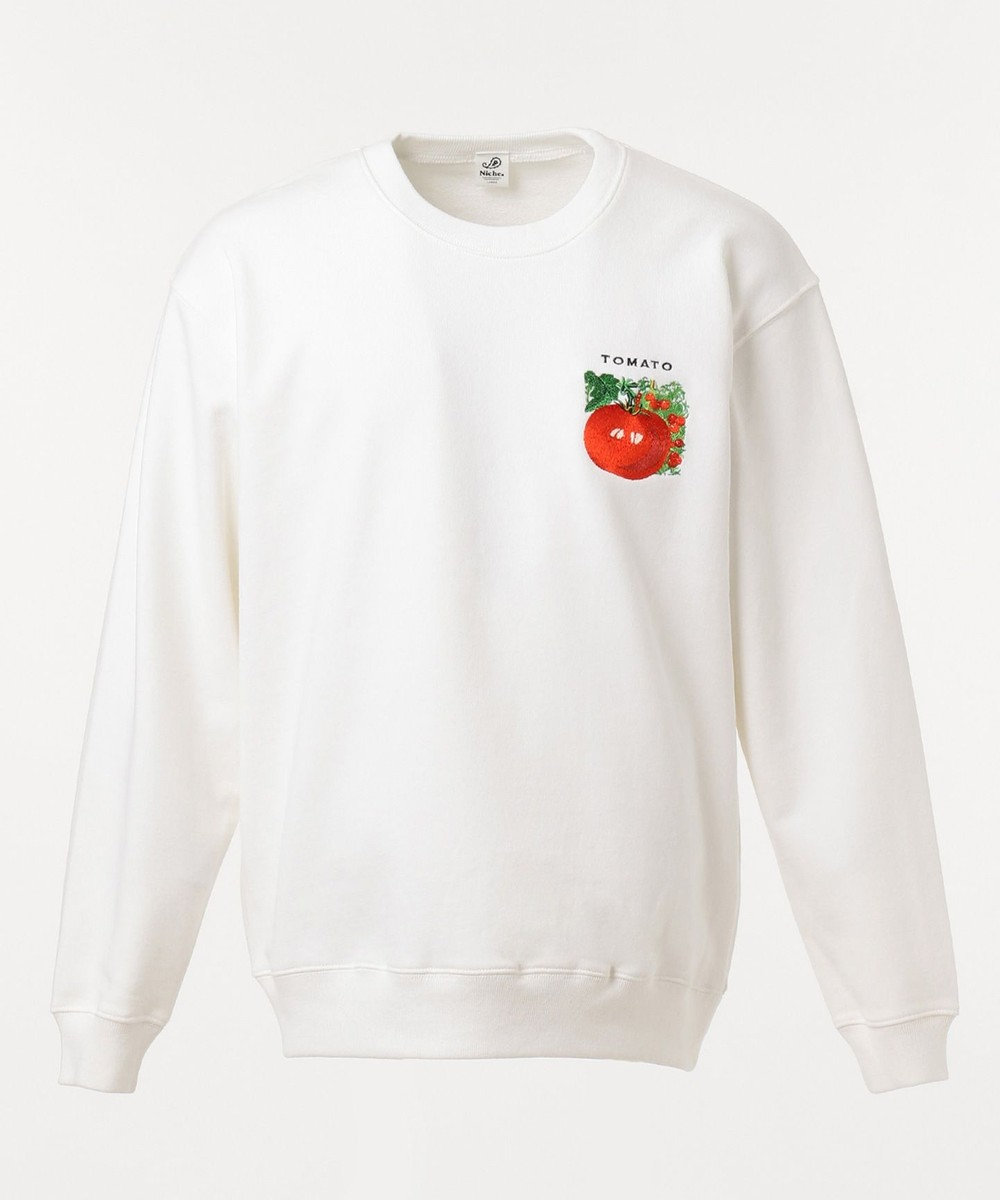 SHARE PARK MENS VegetableEMBC  NSweat ホワイト系