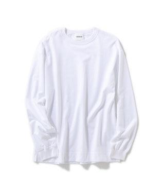 Production Labo 【洗える/オーガニックコットン】クルーネック ロングTシャツ(MENS) ホワイト系