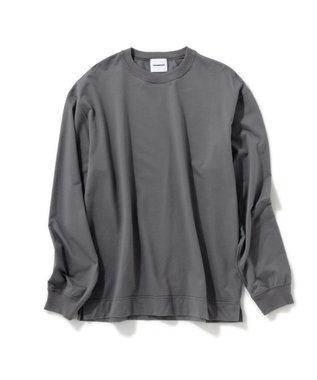 Production Labo 【洗える/オーガニックコットン】クルーネック ロングTシャツ(MENS) グレー系