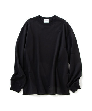 Production Labo 【洗える/オーガニックコットン】クルーネック ロングTシャツ(MENS) ブラック系