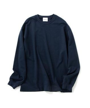 Production Labo 【洗える/オーガニックコットン】クルーネック ロングTシャツ(MENS) ネイビー系