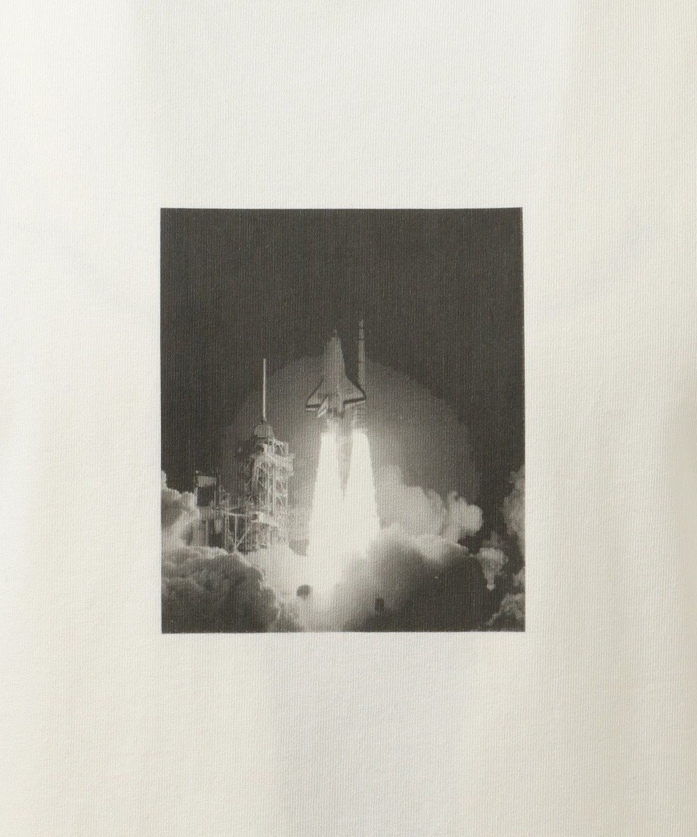 SHARE PARK MENS 〈NASA〉コラボ フォトプリント カットソー ホワイト系1