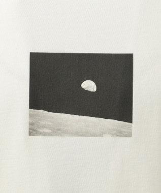 SHARE PARK MENS 〈NASA〉コラボ フォトプリント カットソー ホワイト系