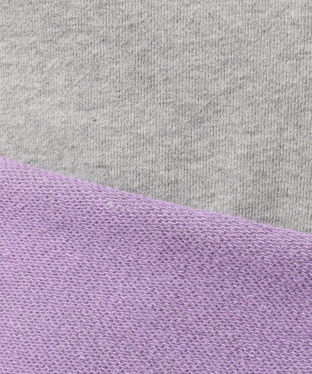 SHARE PARK MENS 配色ミニ裏毛ロングスリーブ Tシャツ ライトグレー系
