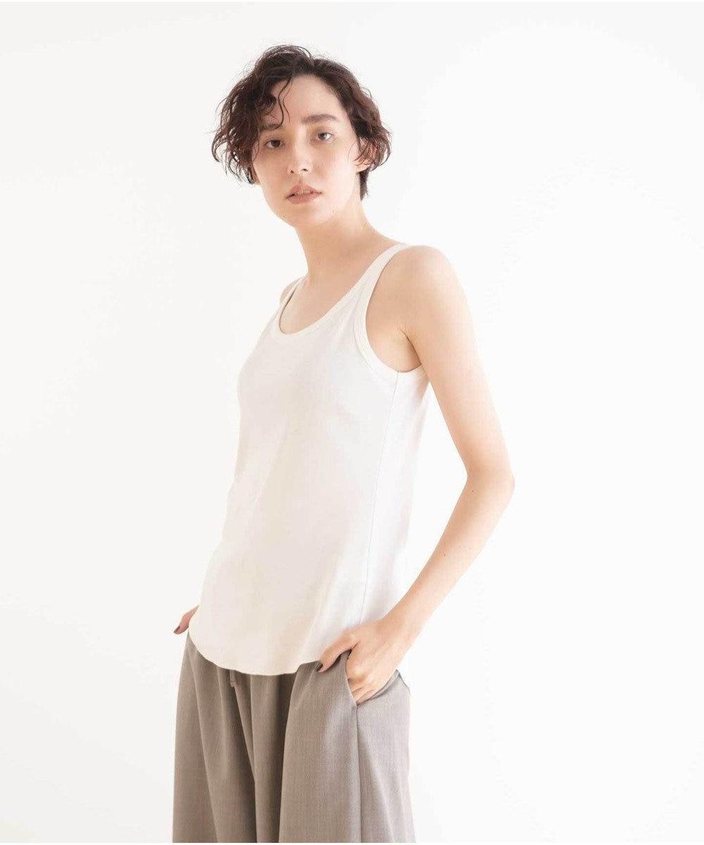 #Newans 【マガジン掲載】ベーシックタンクトップ(番号NF36) ホワイト系