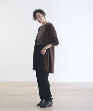 #Newans 【新色登場!】洗える/ ベーシックロングTシャツ(番号NE57) ブラウン系