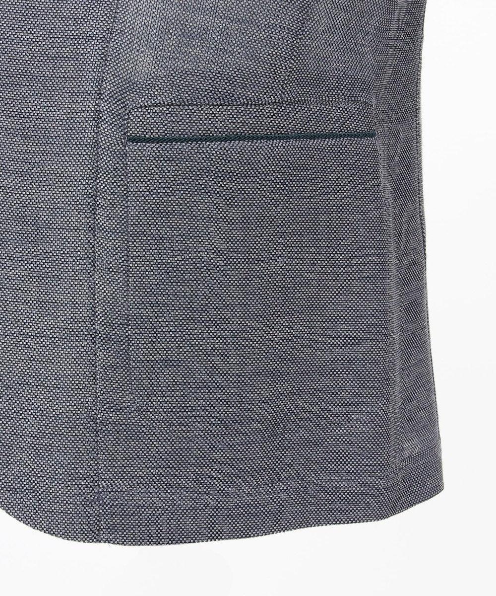 23区HOMME レノクロスストレッチ カットジャケット ブルー系