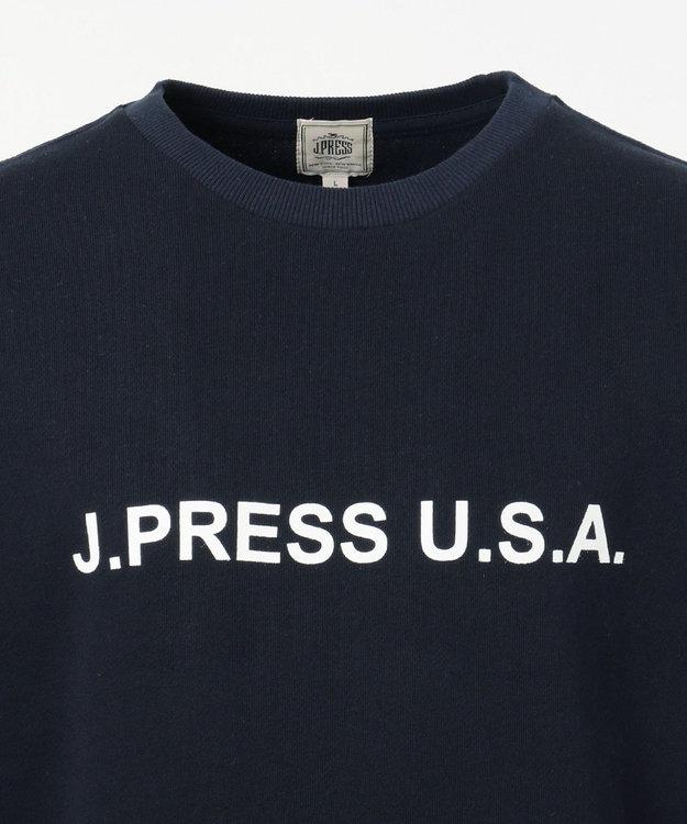 J.PRESS MEN 【J.PRESS LOGO】クルーネックトレーナー ネイビー系