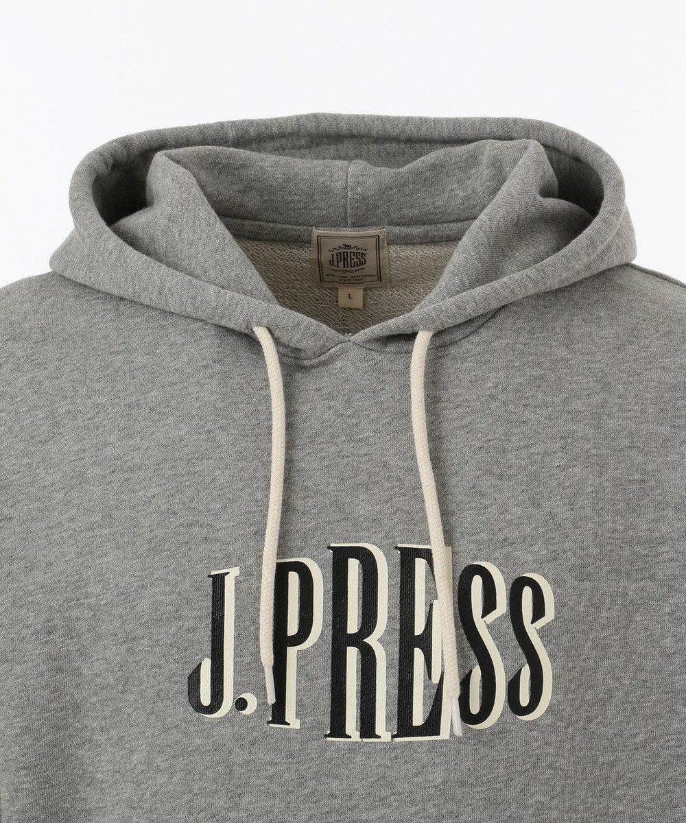 J.PRESS MEN 【カタログ掲載】【J.PRESS LOGO】スーピマコットン / CG パーカー ライトグレー系