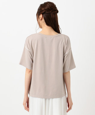 Feroux 【洗える】フォト Tシャツ キャメル系