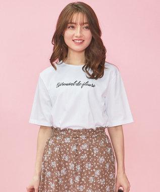 Feroux 【洗える】ロゴ Tシャツ エクリュ