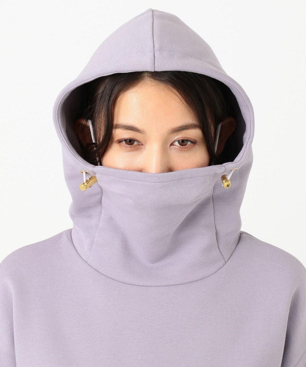 Feroux 【マスク×パーカが一体化!】マスク パーカ ライラック系