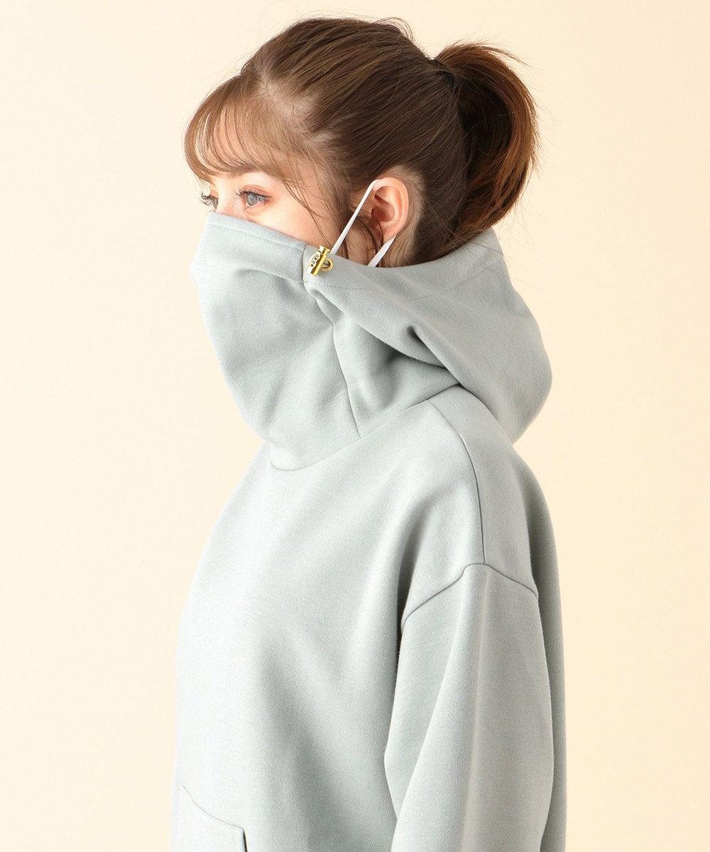 Feroux 【マスク×パーカが一体化!】マスク パーカ ライトグリーン系