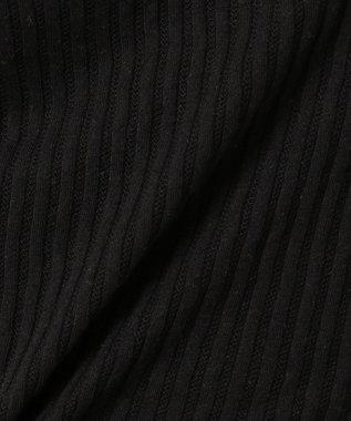 Feroux 【洗える】フェミニンレースリブ インナー ブラック系
