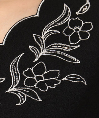 Feroux 【七分丈】フェミニンブラウスライク ブラウス ブラック系