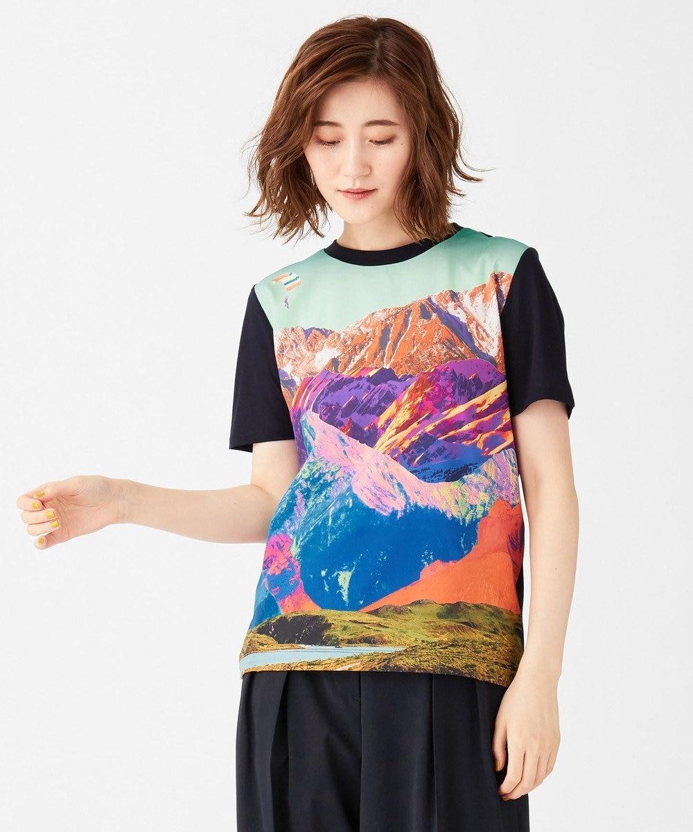 Paul Smith 【洗える!】 マウンテンランドスケープ Tシャツ ネイビー系