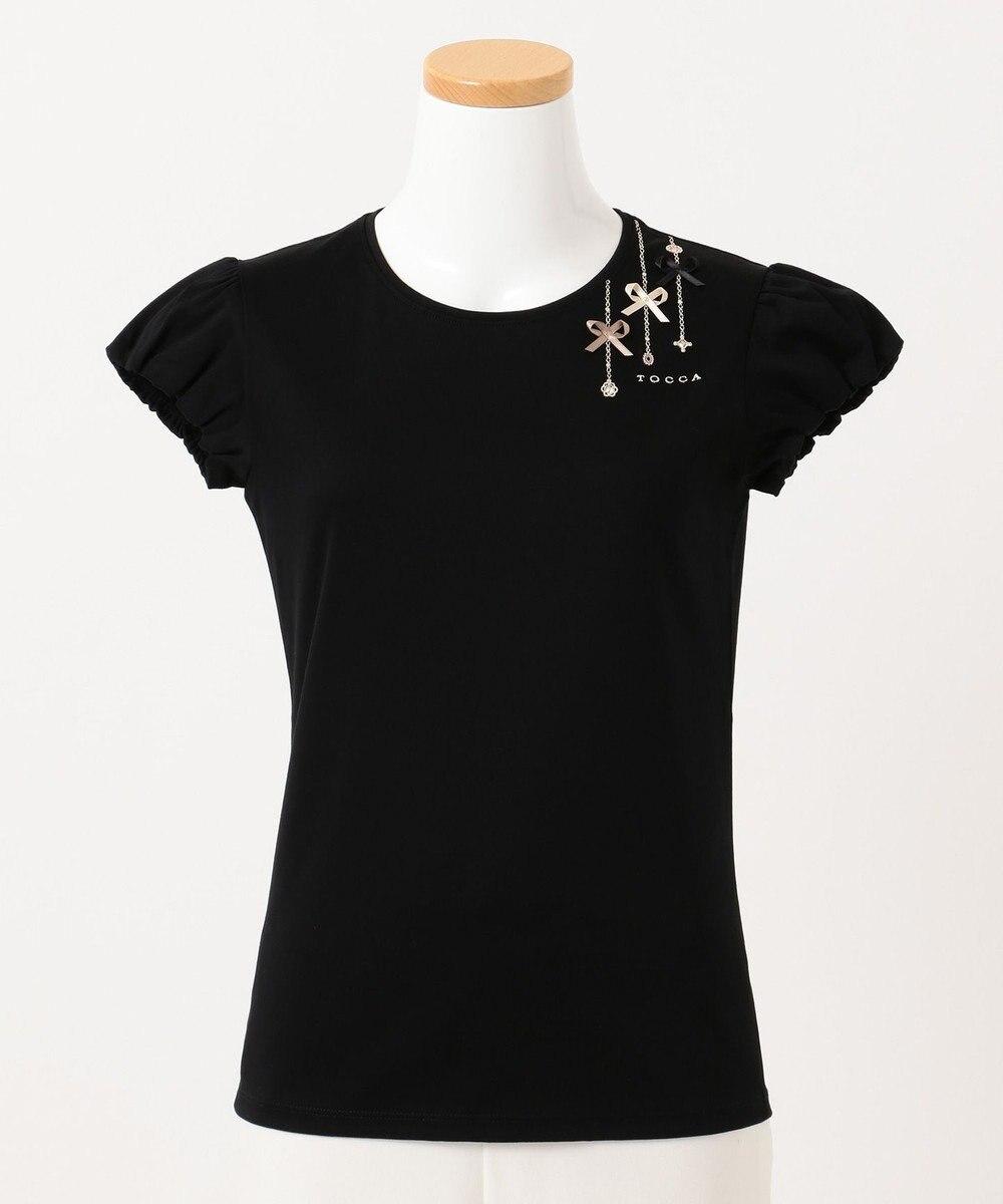 TOCCA BAMBINI 【150-160cm】プチビジュー Tシャツ ブラック系