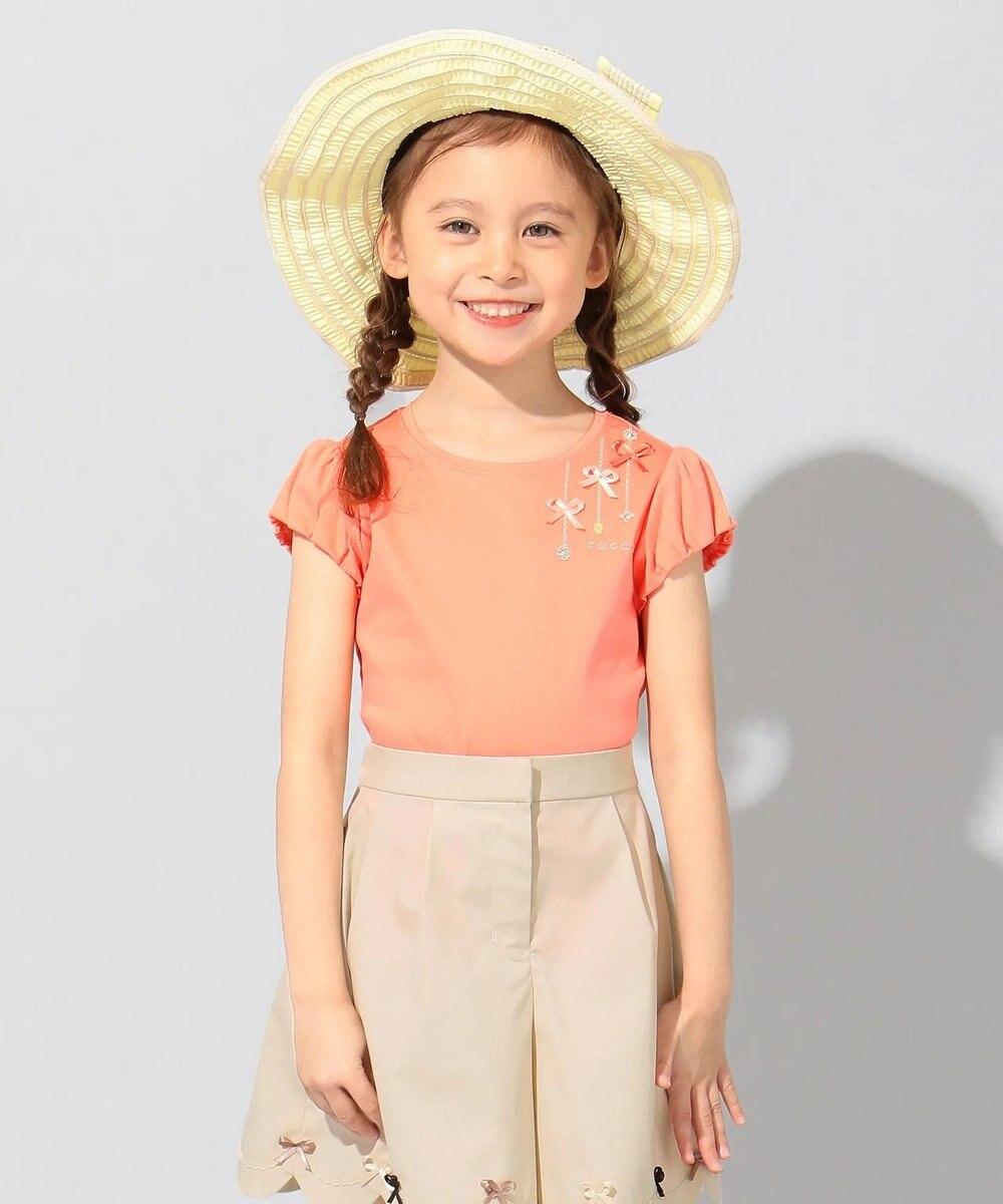 TOCCA BAMBINI 【150-160cm】プチビジュー Tシャツ オレンジ系