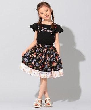 TOCCA BAMBINI 【WEB限定カラー有り/100-140cm】リオ 半袖フリル Tシャツ ブラック系