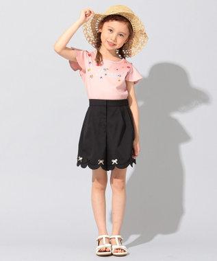TOCCA BAMBINI 【WEB限定カラー有り/100-140cm】リオ 半袖フリル Tシャツ ピンク系