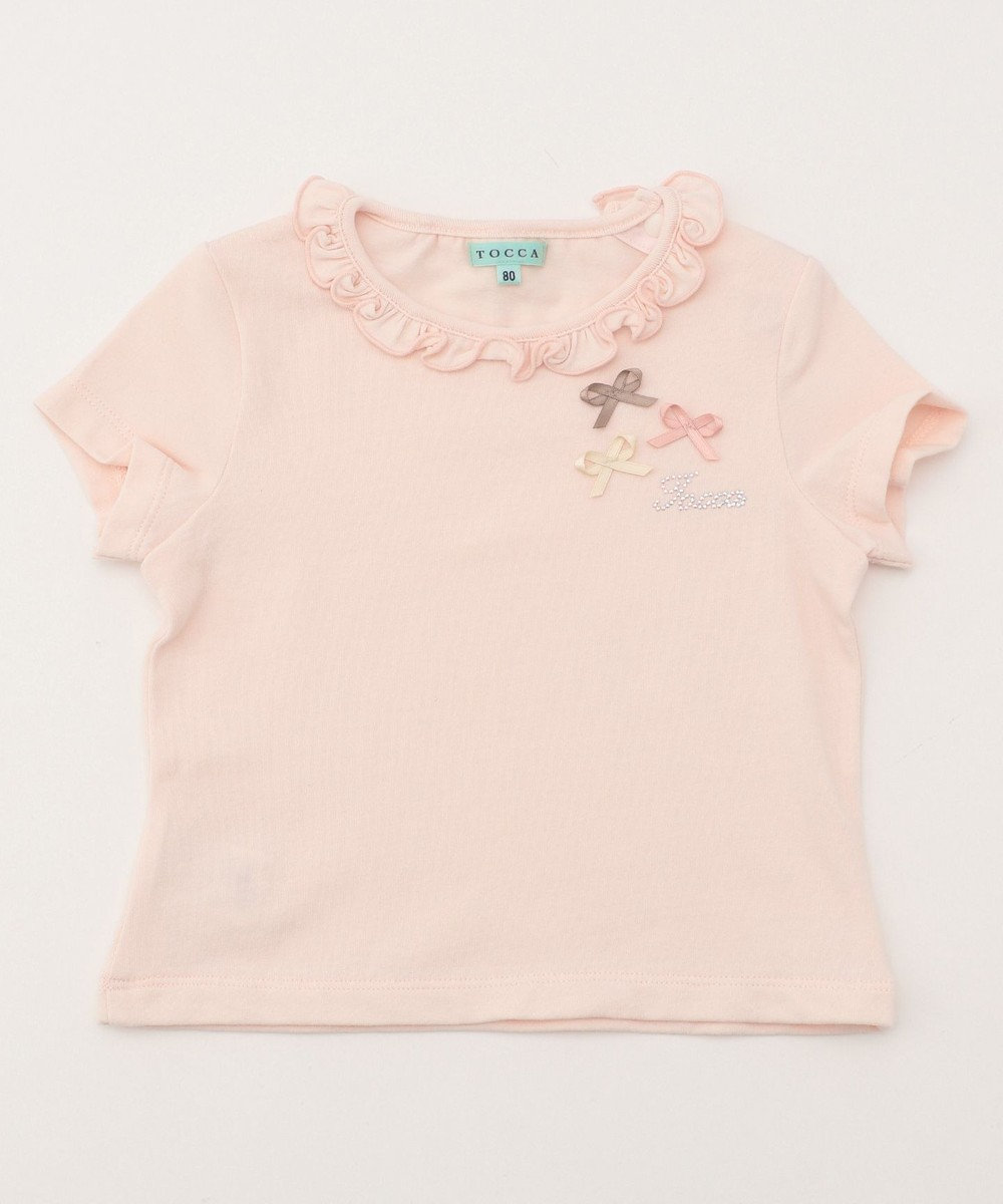 TOCCA BAMBINI 【BABY】プティリボンTシャツ ローズ系