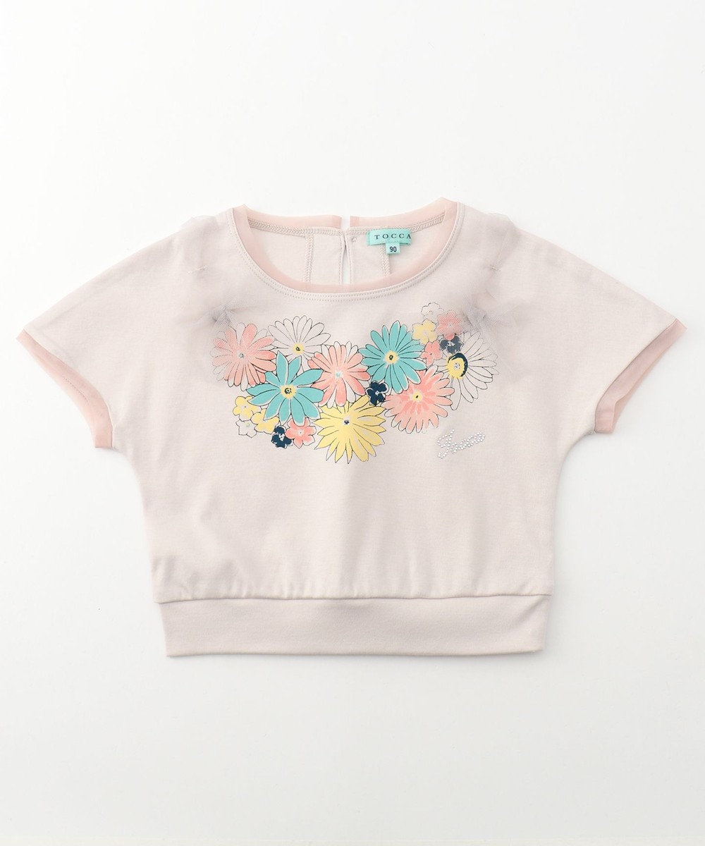 TOCCA BAMBINI 【BABY】Jardin Nacklace カットソー ライトグレー系