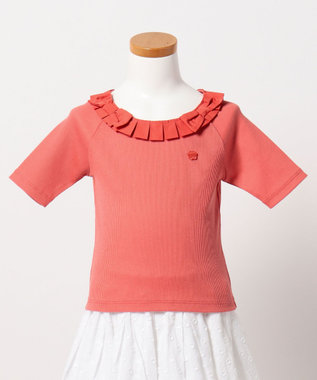 TOCCA BAMBINI 【KIDS】タックリボンカラー カットソー オレンジ系