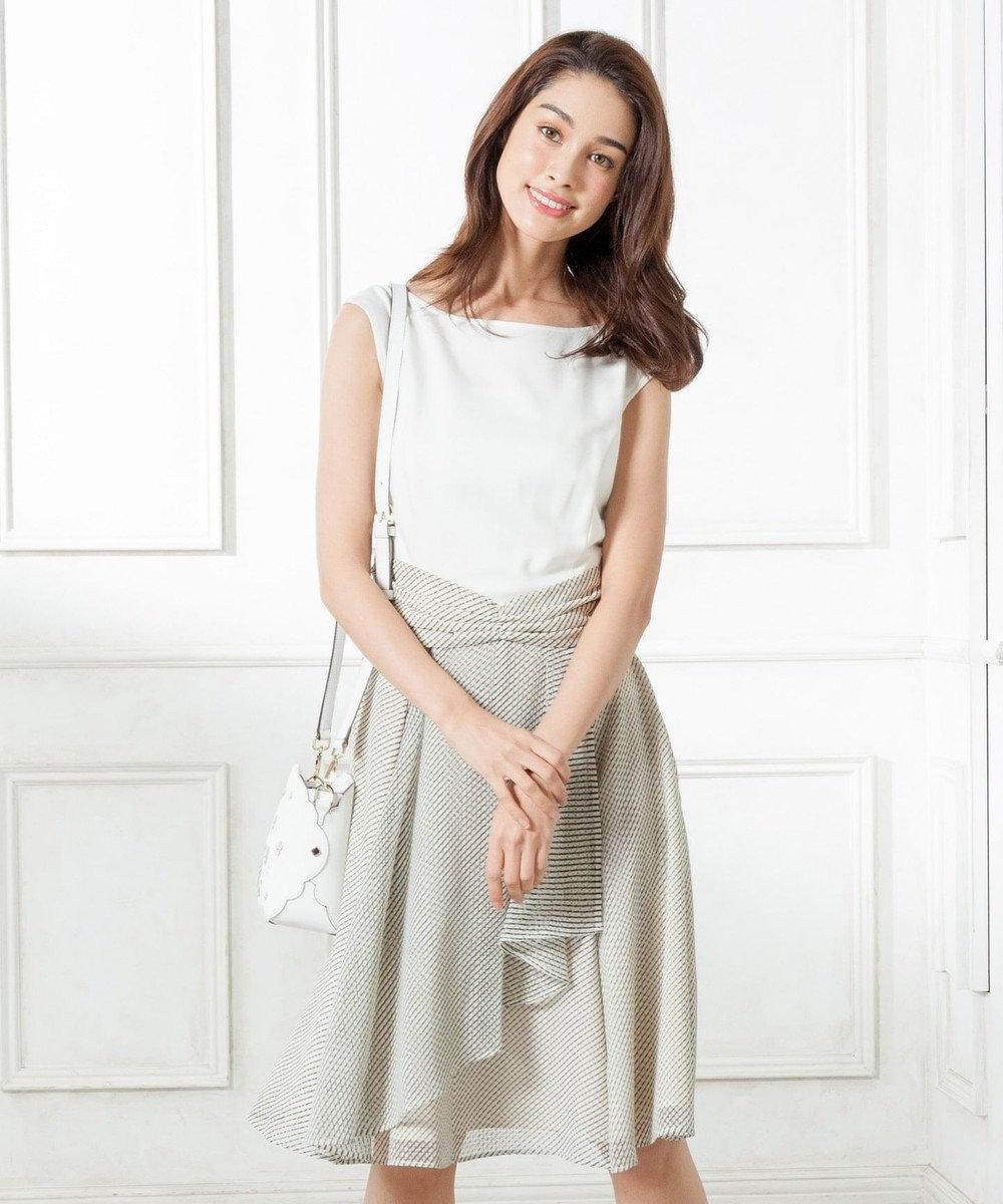 TOCCA 【洗える!】ELFIN CHECK ドレス アイボリー系