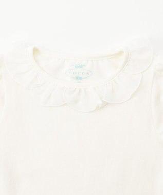 TOCCA BAMBINI 【80-90cm】フラワーカラー 半袖 Tシャツ ホワイト系