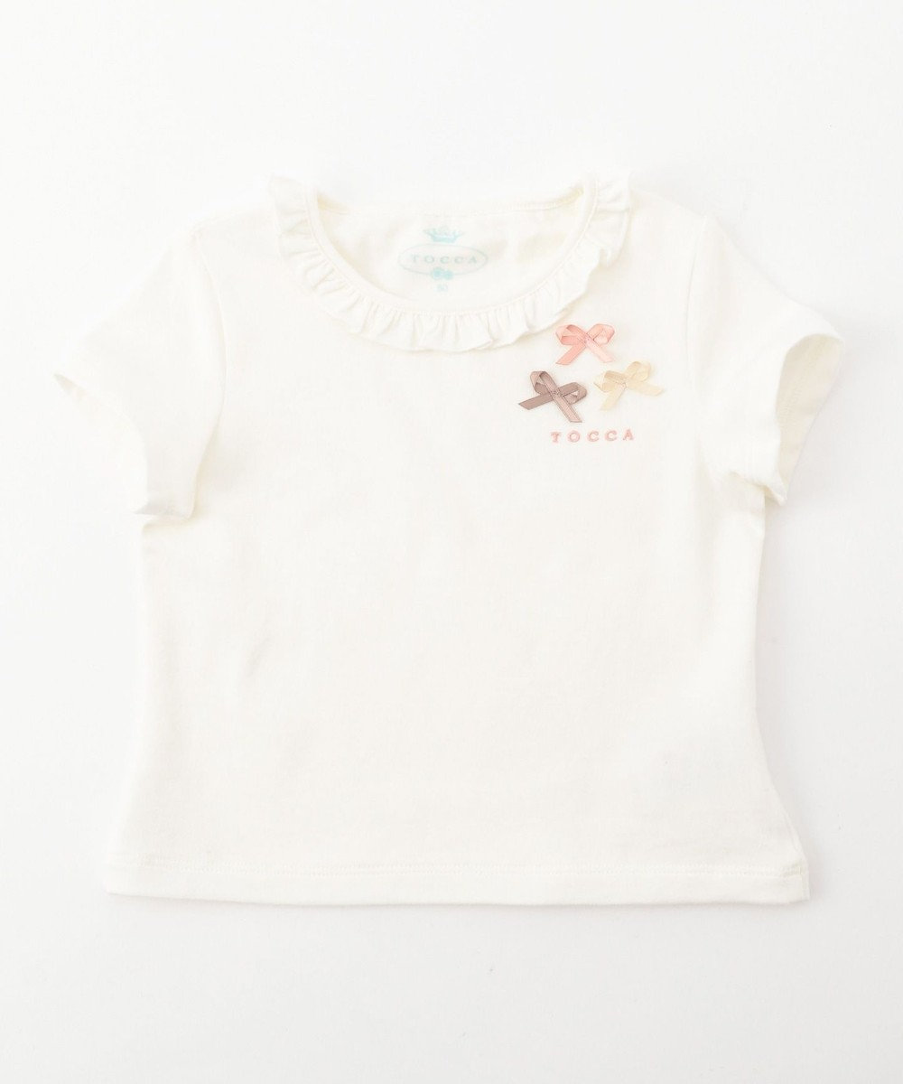 TOCCA BAMBINI プティリボン 半袖Tシャツ ホワイト系