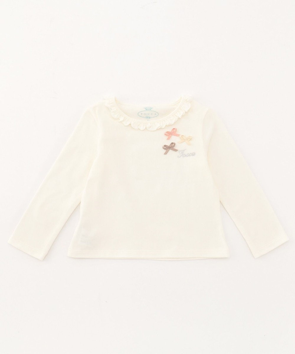 TOCCA BAMBINI 【BABY】プティリボン カットソー アイボリー系