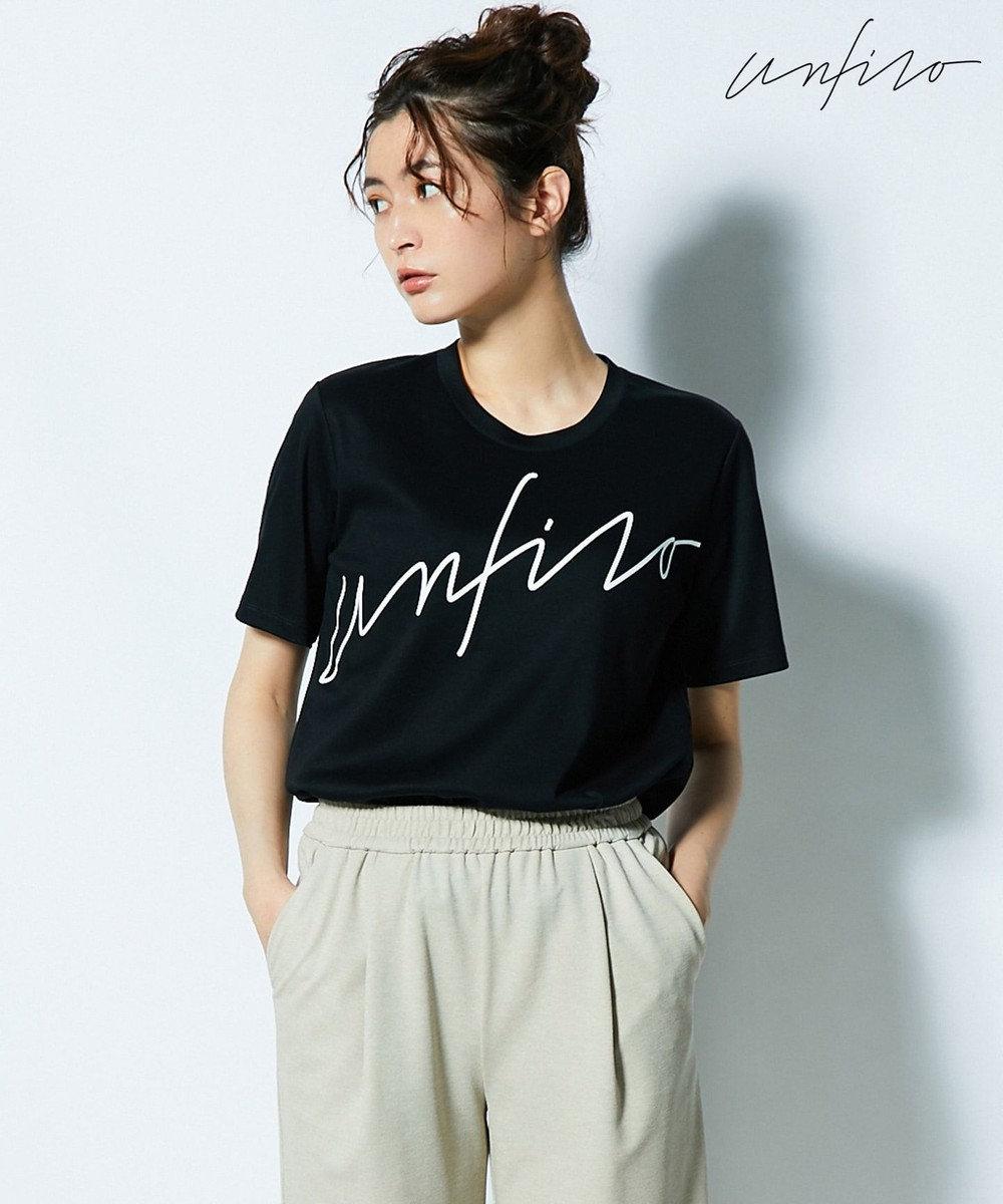 自由区 【Unfilo】ビッグロゴ Tシャツ ブラック系