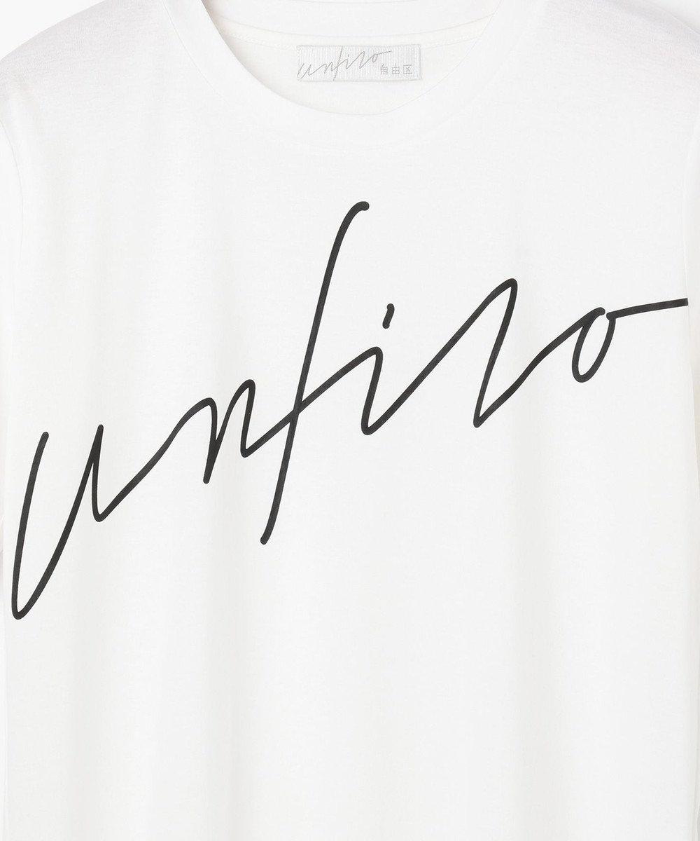 自由区 【Unfilo】ビッグロゴ Tシャツ ホワイト系