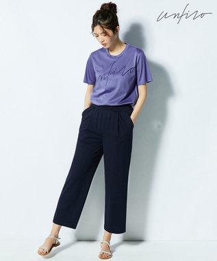自由区 【Unfilo】ビッグロゴ Tシャツ ダルブルー系