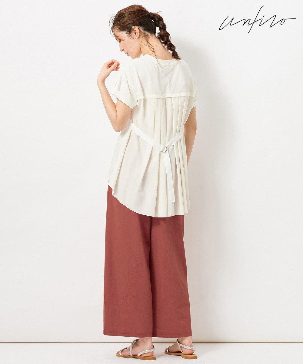 自由区 【Unfilo】KANOKO BLEND 異素材コンビ カットソー アイボリー系